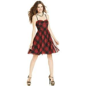Betsey Johnson Plaid Skater Dress